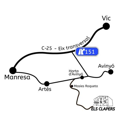 Mapa masia Clapers